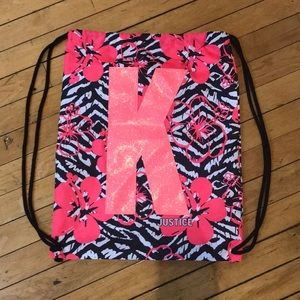 """Justice """"K"""" drawing backpack"""